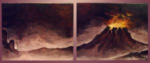 Volcano Painting by kungfubellydancer