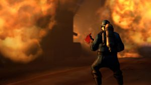 SFM Poster: The Burning Flames by PatrickJr
