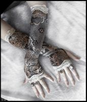 Candlelight Cabaret Arm Warmers by ZenAndCoffee