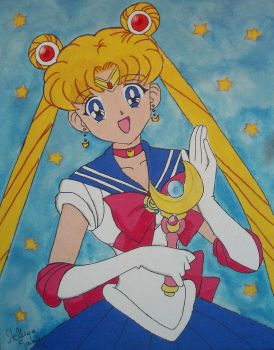 Sailor Moon Painting by SamaelCosplayer