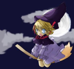 Witch riding the night sky by imari03 - Cad�Lara AvatarLar :)