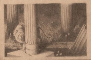 lion among columns - SOLD by luve