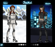 Jackal Polar and Stealth suits by Neo-Jackal