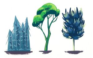Trees study by LuciaRodriguez
