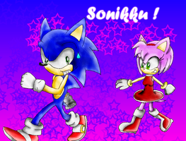 Contest colored Sonic Amy by Joellinathedog