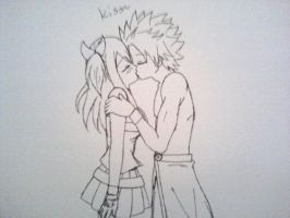 NaLu Kiss by SoulEvansEater4ever