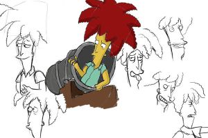 Sideshow Bob sketch2 by Eriath