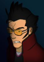 Travis Touchdown is getting angrier by SpiderGman
