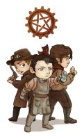 Steam-Powered SPN ChibiSet1 by JoannaJohnen