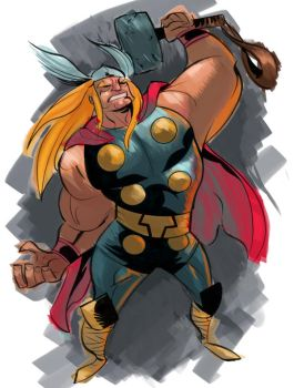 Thor in color by irongiant775