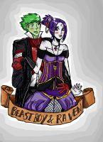 request:beast boy and raven by superlucky13