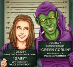 Gaby and Green Goblin - Mugshot Commission by Costalonga
