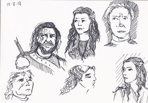 Game of Thrones favourites (couple-minute sketches by madelinebyrne