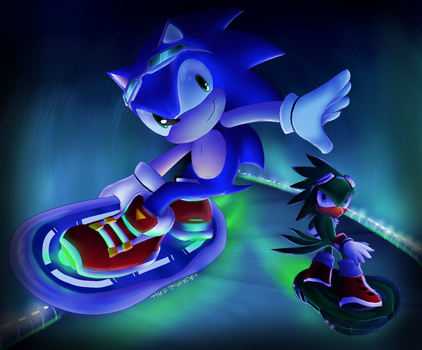 Sonic Free Riders by sir-grimmington
