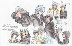 RikuXion doodles by AiraNozomi :colored: by EnzanBlues456
