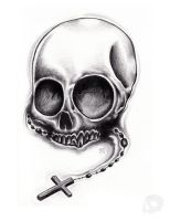 Skull and Rosary 02 by P-O-R-K-Y