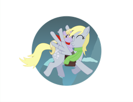 Derpy and Dinky by anonimounanime