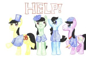The Beatles 'Help!' Ponies by johnpaulgeorgeringo6
