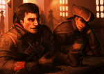 Shay Cormac and Haytham Kenway in a pub by Aquila--Audax