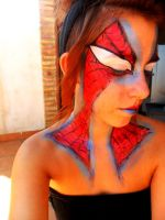 Spiderman Make up by Arisusandasu
