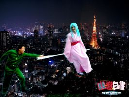 YYH Cosplay: Flying in Tokyo by SawaKun