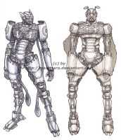 Robot Designs by Nazonaro