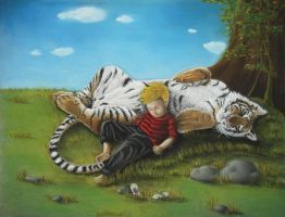 Calvin and Hobbes IRL by AmaniWarrington