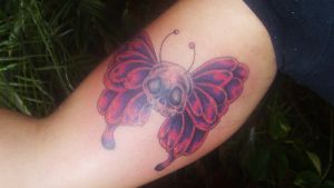 butterfly new school tattoo by D3adFrog
