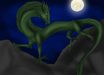 Forest Dragon at Night (AT) by Tomek1000