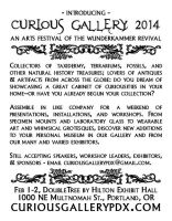 Curious Gallery 2014 Promo Postcard Back by lupagreenwolf