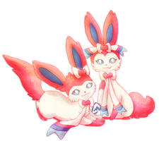 Herpderp Sylveons by takumeme