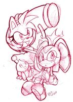 [SKETCH] Amy,Cream and Cheese by Zubwayori