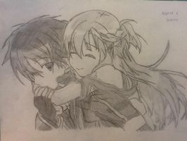 Asuna and Kirito by XxNinjaGirlRawrzxX