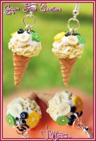 Fruity Ice Creams - Earrings by Jeyam-PClay
