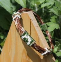 Adjustable Horsehair Bracelet - Lucy and Buddy by TarpanBeadworks