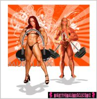 Musclexx Pinup Commission Set 4 Sample by SteeleBlazer84