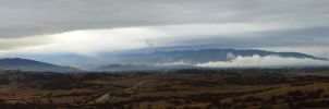 Palomar Mountain and Tememcula Valley Panorama wit by climber07