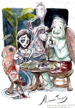 The Ghosts Tea party by stawwi