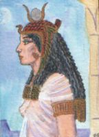 Egyptian goddess Mut by echdhu