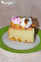 Peach and coconut cake by DanutzaP