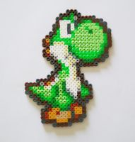 Yoshi made from Perler+Hama beads by yolei-s
