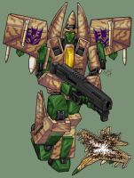 Boomslang, Decepticon Conehead by Heatherbeast