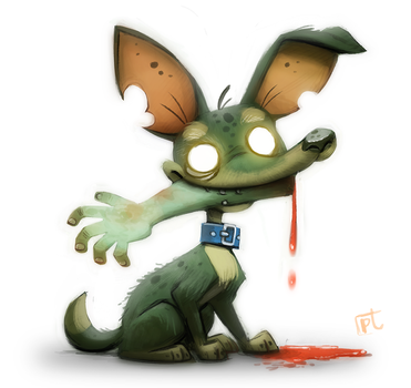 Daily Painting 618 # Zombie Dog by Cryptid-Creations