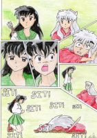 inuyasha and kagome sit moment by jadey-babey