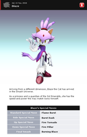 Fake SSBB Profiles 35: Blaze by shadow0knight