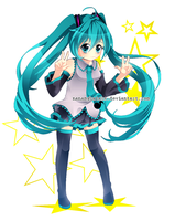 redrawing miku by NaMy-BoT