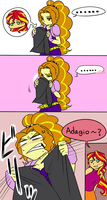 Sunset Shimmer X Adagio by raika0306