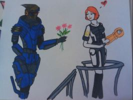 ME2: Flowers Coloured by FuzennoTenshi