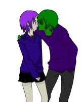 Beastboy and Raven by ispainfullyobvious
