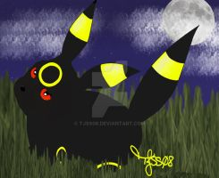 Kamora as Umbreon by TJSS08